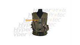 Gilet tactical vert CCE militaire avec ceinture pour droitier