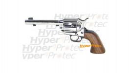 Revolver Weihrauch chromé crosse bois SA 1873 Western 9 mm