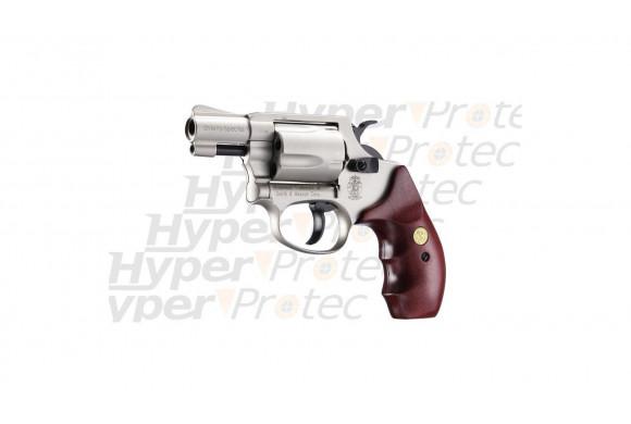 Chiefs Special nickel crosse bois - revolver Smith&Wesson 9mm