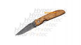 Couteau Fox Damas manche bouleau - 364 couches