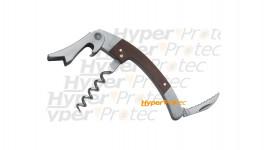 Couteau de sommelier avec tire-bouchon manche bois