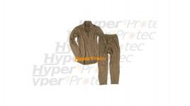 Sous-vêtements thermolactiles coyote sweat et pantalon Taille L