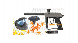 Pack Paintball Spyder gris Xtra complet + masque + billes