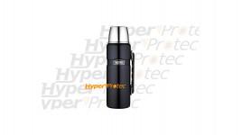 Thermos noir inox avec poignée - capacité 1.2 litre