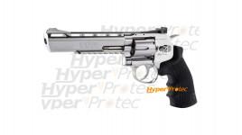 Revolver Black Ops chromé 6 pouces à billes acier 4.5 mm
