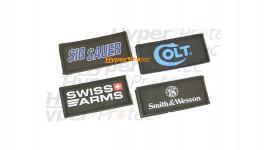 Ecussons à scratch Sig Sauer, Colt, Swiss Arms, Smith & Wesson