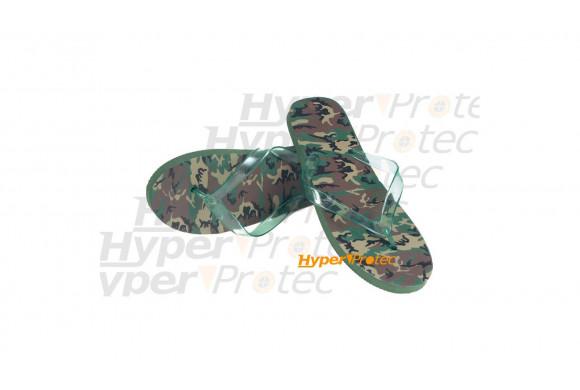 Tongs Flip flop camo militaire - Taille 41-42
