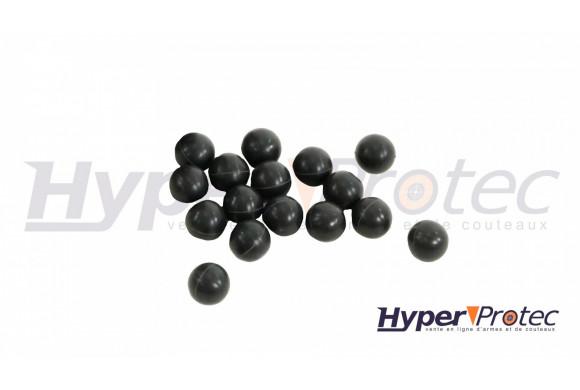 BOULES CAOUTCHOUC 100 RUBBER STEEL DEFENSE -CALIBRE 0.68- DIAMETRE 17 MM -