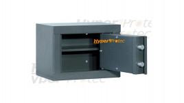 Coffre fort individuel gris en acier 27x37x25 cm épaisseur 3 mm