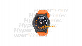 Montre Smith Wesson avec bracelet en silicone orange