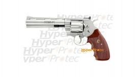 Revolver Colt Python 357 Magnum chromé brillant 6 pouces 4.5 mm