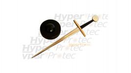 Ouvre lettre épée de templier en acier