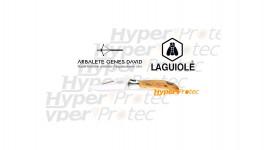 Couteau Laguiole manche en genévrier G. David - 12 cm
