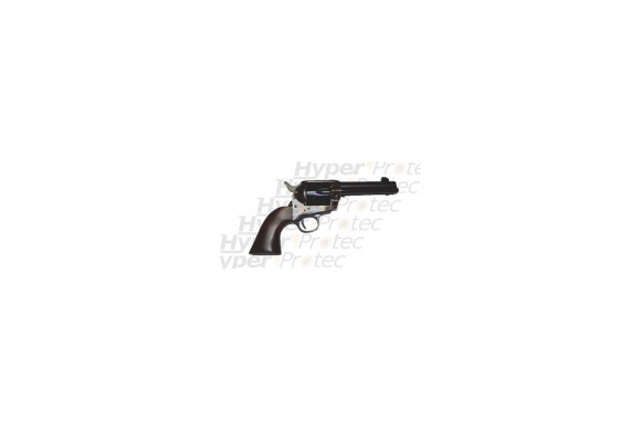 Colt 1873 acier jaspé crosse noyer 12 cm - revolver alarme