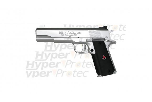 Colt Delta Gold Cup chrome pistolet spring manuel airsoft