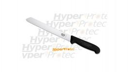Couteau pain Victorinox Fibrox 21 cm noir