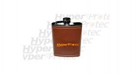 Flasque 180 ml inox gainé cuir marron cerf Uniluxe