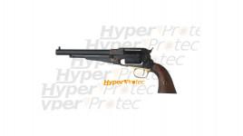 Revolver 1858 Remington à poudre noire Calibre 44 acier jaspé