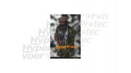 Poster mise en situation soldat menaçant armé - 50 mètres