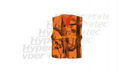 Gilet de battue de chasse orange et de traque Ghost camo blaze taille M - L