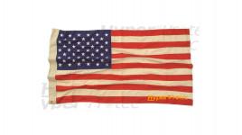 Drapeau US Vintage en tissus brodé 150x90cm