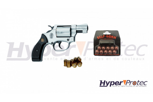 Pack Revolver Smith & Wesson 36 Chiefs Special nickel + self gom