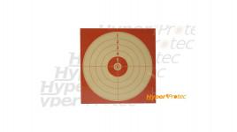cibles carton rouge 14x14 cm