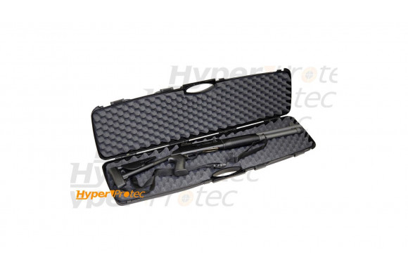 Mallette noire rigide pour fusil et carabine - 105 cm