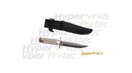 Petit poignard de survie inox - lame 12 cm