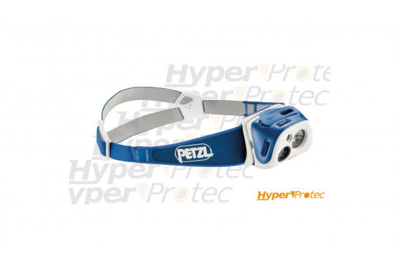 Lampe frontale Petzl Tikka R+ bleue 170 lumens rechargeable USB