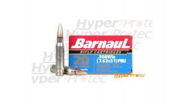 20 cartouches Barnaul .308 Win 7.62x51 FMJ