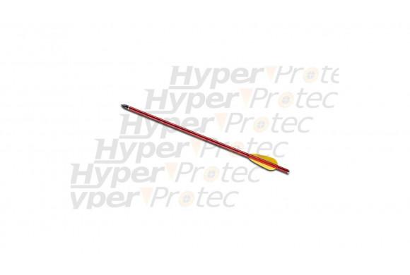 Flèche trait carreau 44cm aluminium rouge ou noire 16 pouces
