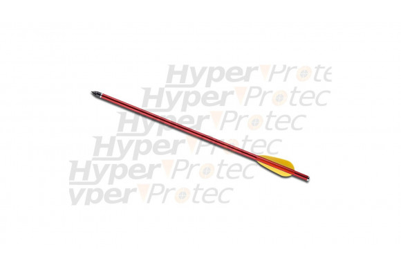 Flèche trait carreau 54cm aluminium rouge ou noire - 20 pouces