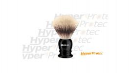 Blaireau de barbier Böker noir avec écrins blanc