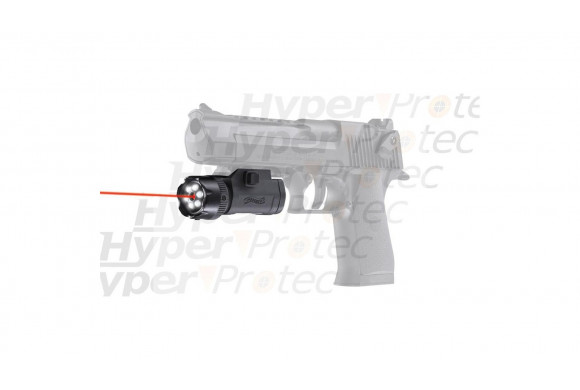 Walther Night Force - Lampe à leds + laser point rouge sur cible