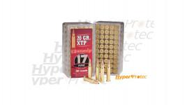 50 cartouches Hornady XTP 17HMR 20 grains