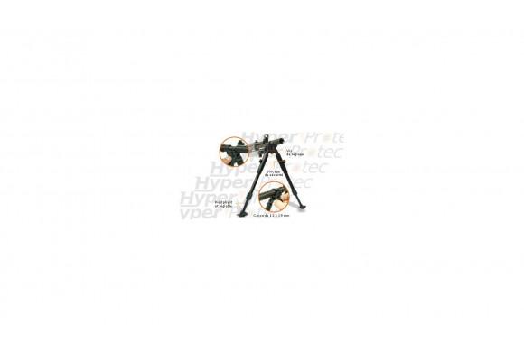 Bipied pliant de canon Ø 11-19mm réglable en hauteur