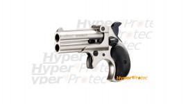 Pistolet alarme Roehm Derringer acier brossé - cal 9mm