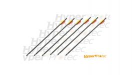 Lot de 6 flèches aluminium spécial arbalète 20 pouces - 50 cm