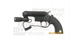 Pistolet de défense à balles caoutchouc GC27 tactical Gom cogne Cal 12 50