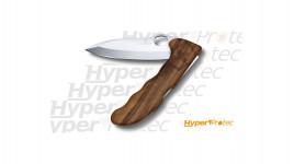 Couteau de poche Victorinox Hunter pro manche en bois noyer avec étui kaki