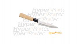 Couteau japonais avec manche en bois naturel Petty 13cm