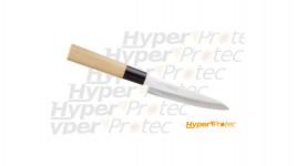 Couteau de cuisine japonais Sashimi avec lame en acier inoxydable de 21cm