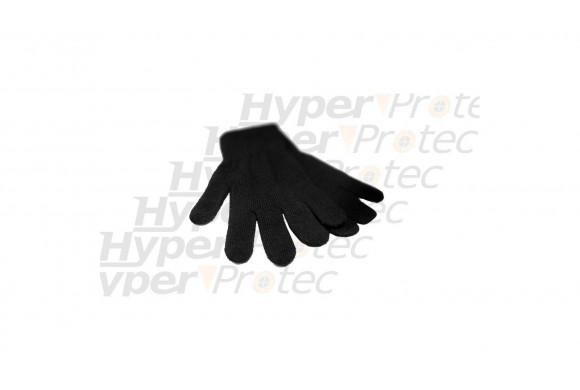 Gants noirs extensibles - taille moyenne 6 à 8