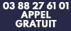 Appel gratuit 03 88 27 61 01